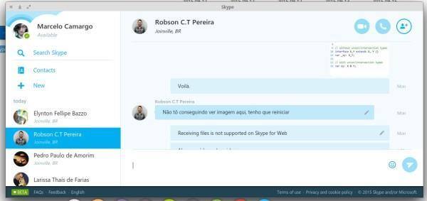 Skype Web client