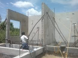 concrete home using insulated concrete forms, ICFs