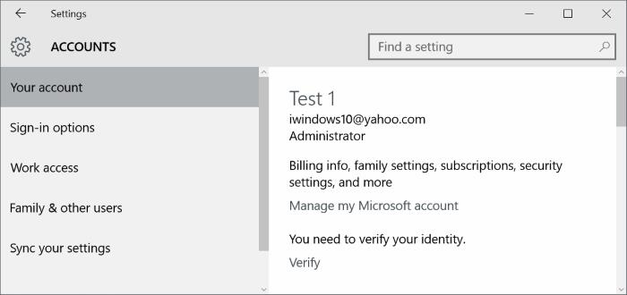 Use Gmail or Yahoo Mail as Microsoft acount Windows 10 step8