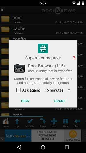 Root-permissions-granted