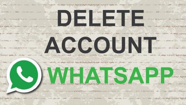 delete WhatsApp account