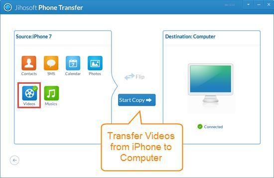 Transfer Videos from iPhone to Computer without iTunes