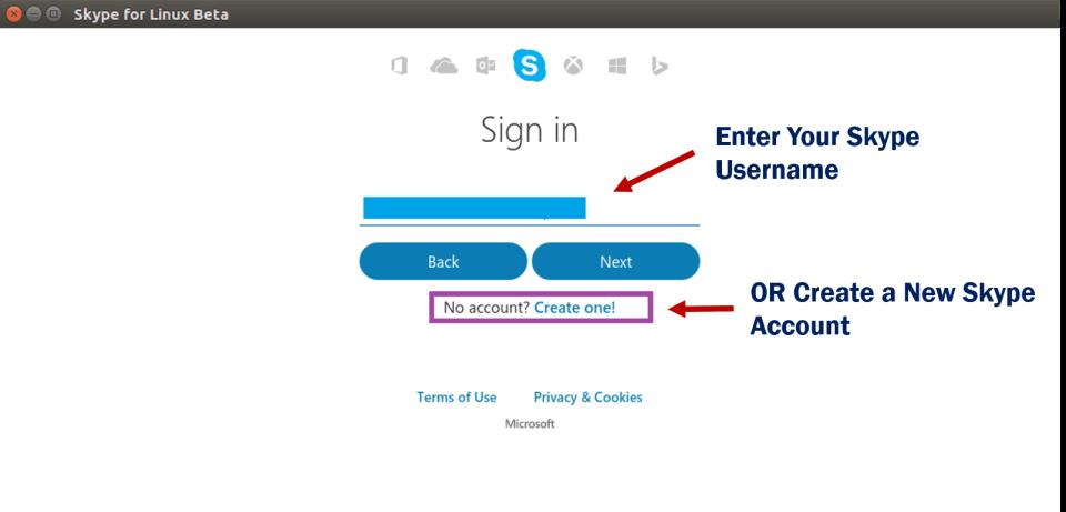 ENTER YOUR SKYPE ONLINE CHAT USERNAME