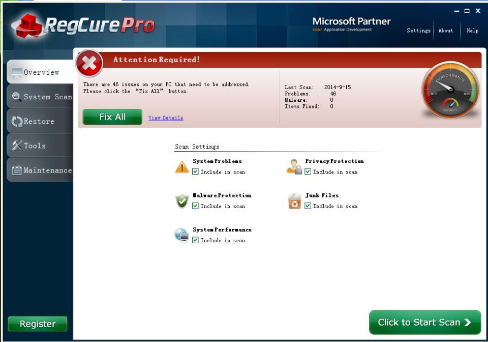 RegCure Pro Scan