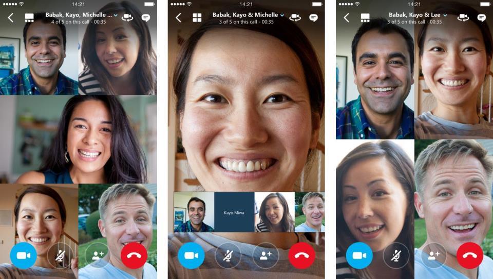 Skype for iOS group video calling iPhone screenshot 001