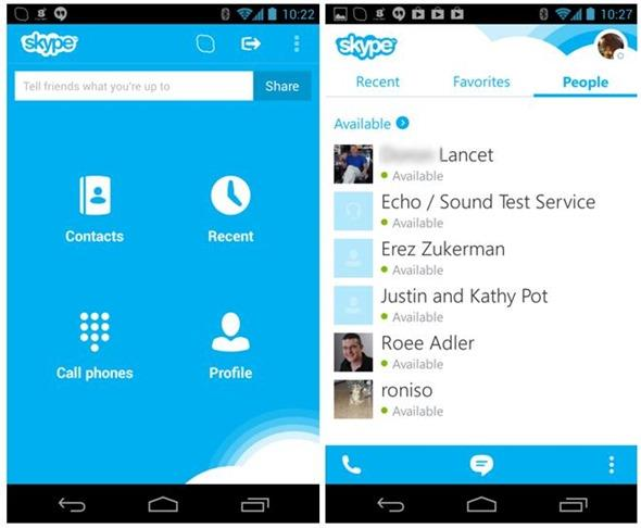 How to skype password on Android