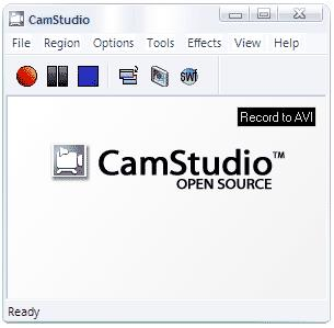 Screenshot of CamStudio interface
