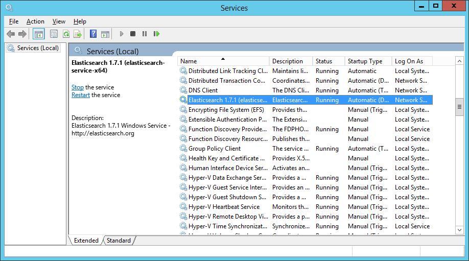 elasticsearch-running-service