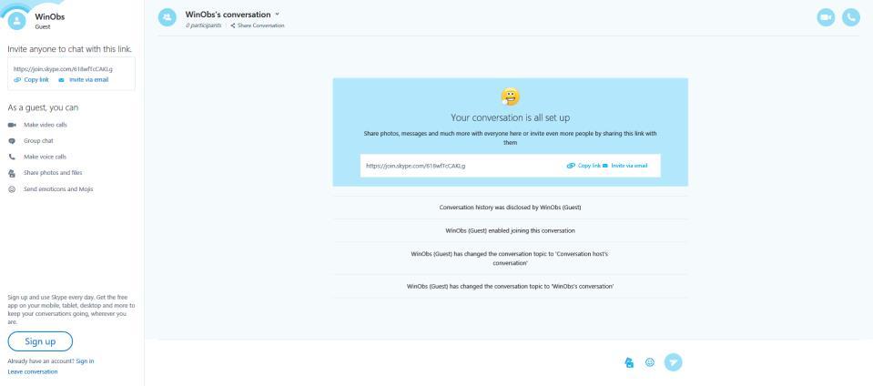 Skype Guest Calls