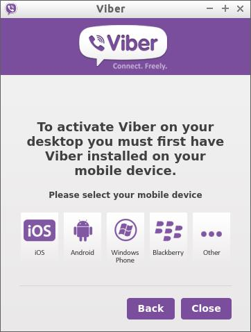 Installing Viber for Linux Mint 17.1 Rebecca - install first on mobile device