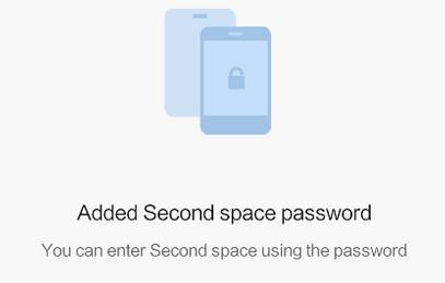 Second Space Password Added