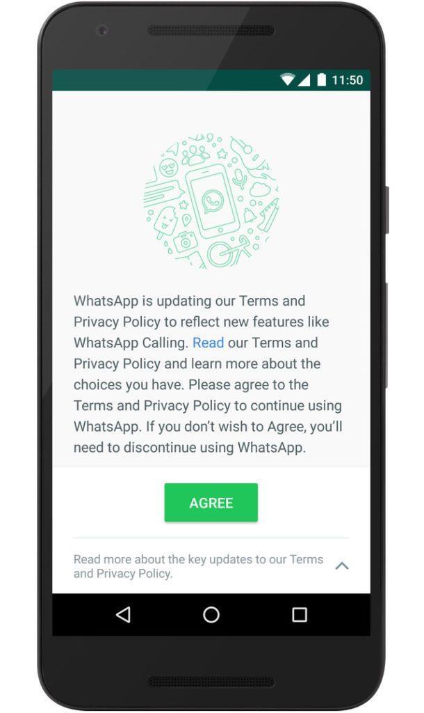 Whatsapp updated tnc
