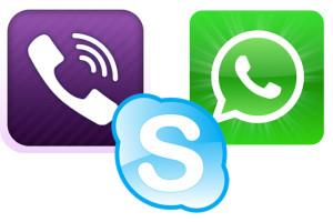 WhatsApp vs Viber Vs Skype