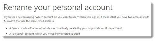 How to rename your Microsoft personal account