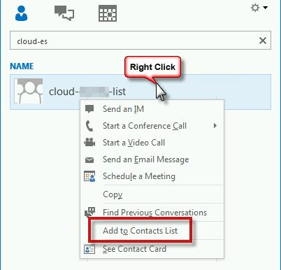 02 search for cloud groups in Lync 2013
