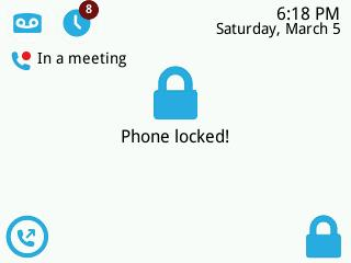 Skype for Business phone lock feature