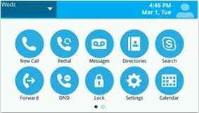 New Skype for Business Phone User Interface
