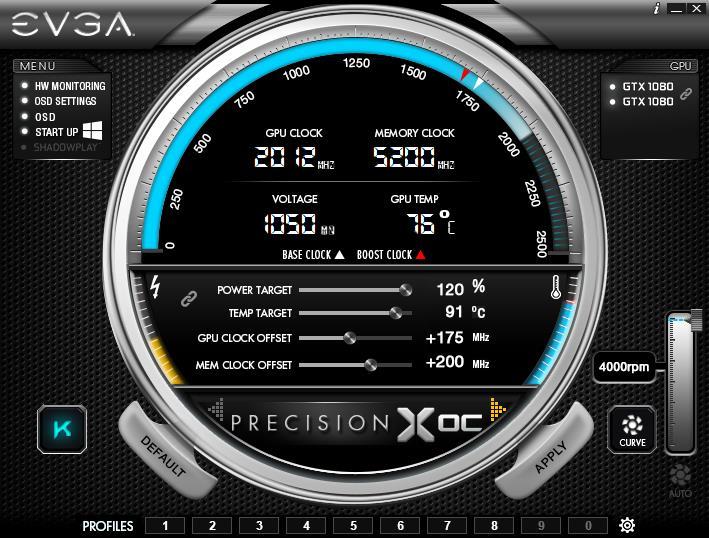 Turn off EVGA Precision