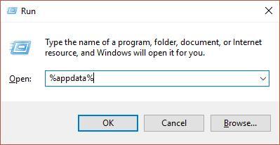 appdata shortcut from run