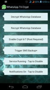 Backup whatsapp- Whatsapp Tri-crypt