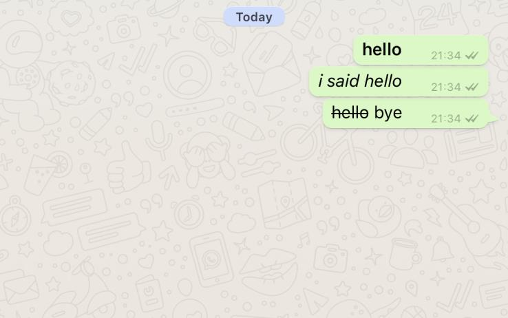 How to add Whatsapp Bold, Italics and Strikethroughs on WhatsApp