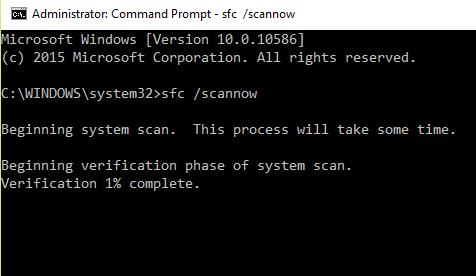 sfc scan now command