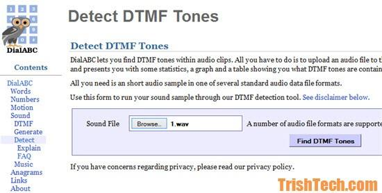 Detect Phone Number from Touch Tones