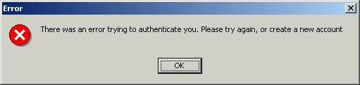 Username taken warning in Exodus