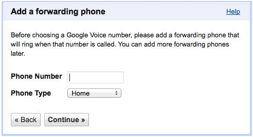 AF orwarding Phone Required To Setup Google Voice