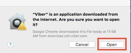 Download & install Viber for mac OS X El Capitan_5