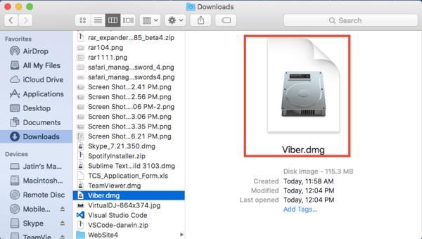 Download & install Viber for mac OS X El Capitan_2