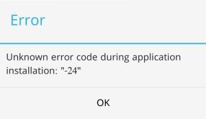 android error 24 WhatsApp