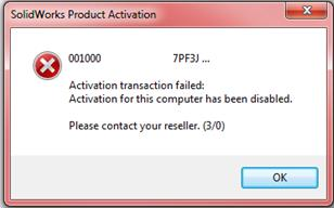 Activation Transaction Failure