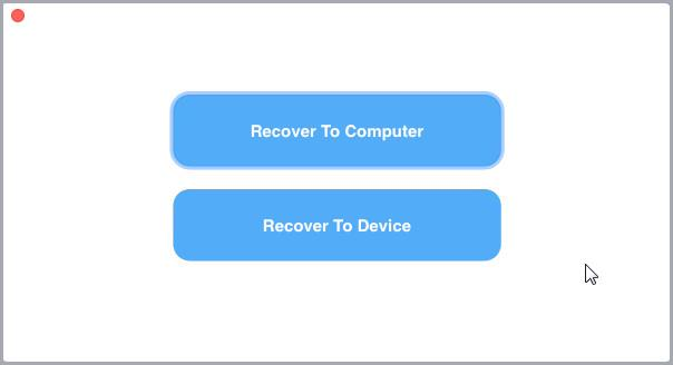 recover to device