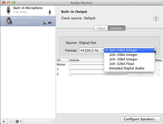 Audio Midi Sound Control On The Mac