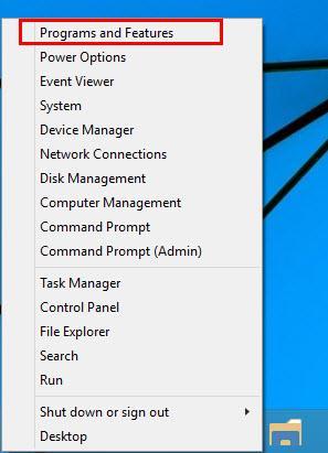 Win X menu Windows 10