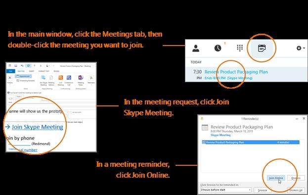 Participate in a Skype Meeting