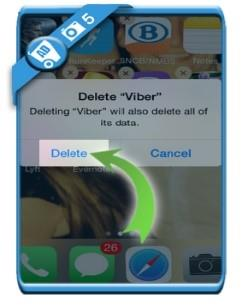 delete Viber account finished