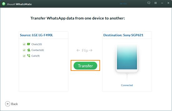 Transfer WhatsApp History from Android to iPhone Using WhatsMate