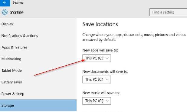 change default install location of apps in Windows 10 step5.PNG