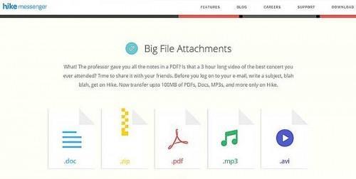 Hike Messenger Apps Big File Transfer