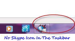 No Skype taskbar icon