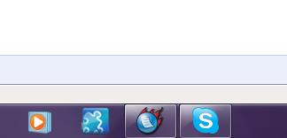 skype icon in taskbar