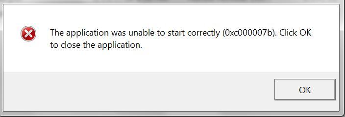0xc00007b error Fix