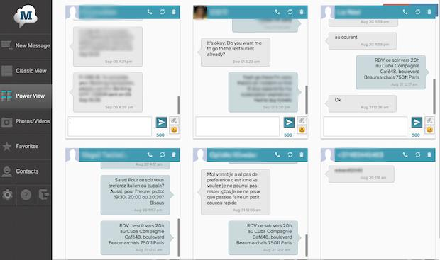 MightyText's Powerview is a great way to have multiple conversations at the same time