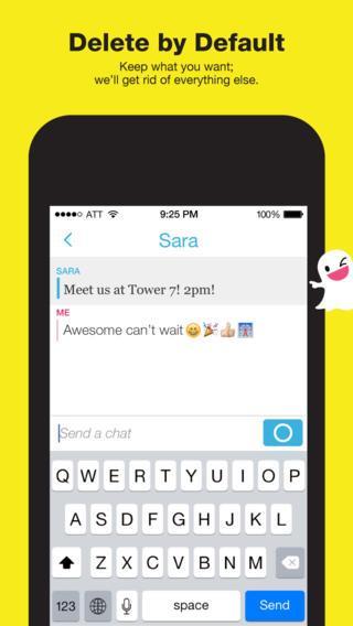 snapchat text
