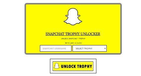 Snapchat Trophies unlocker