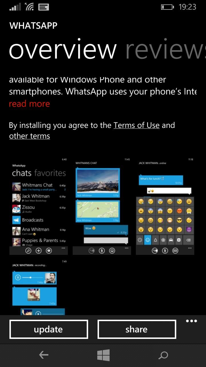 Whatsapp Error On WIndows Phone