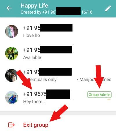 howto block whatsapp group