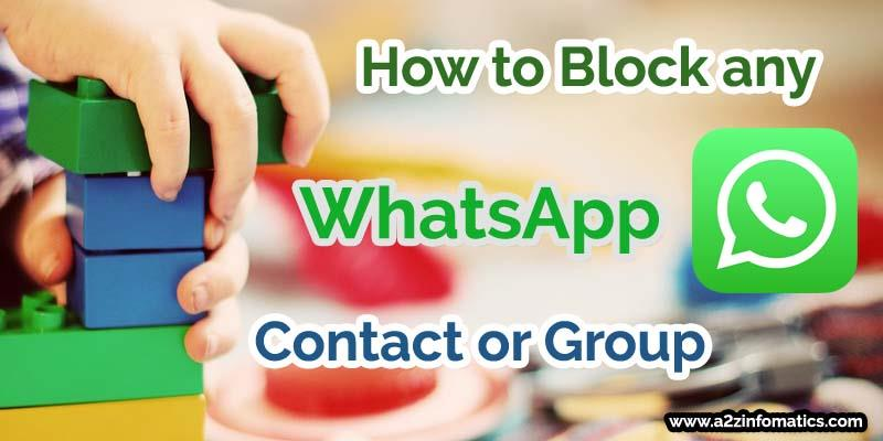 how to block any whatsapp contact group